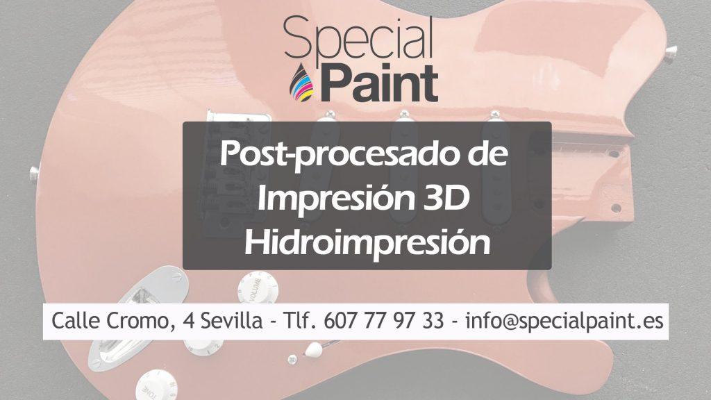 post-procesado de impresión 3D - Special Paint