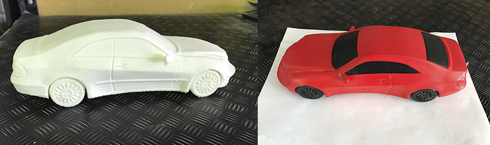 Cómo hay que pintar piezas de impresión 3D